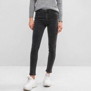 ZAFUL Basic Skinny Jeans in Dark Grey